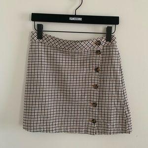 H&M Divided Plaid Skirt